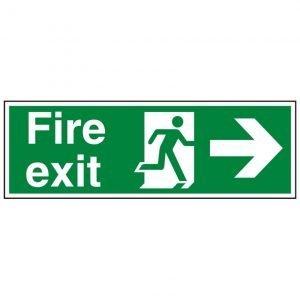 Fire Exit Running Man Arrow Right Sign