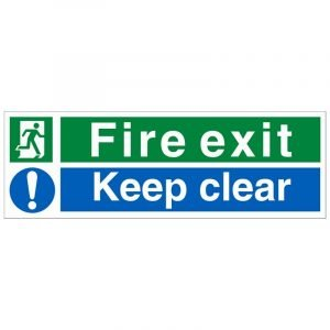 Fire Exit Keep Clear Sign