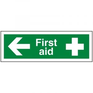 First Aid Left Sign