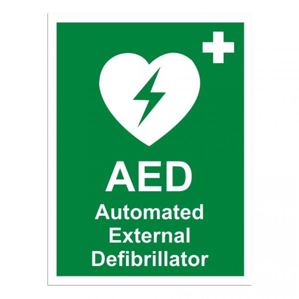 Automated External Defibrilator Sign