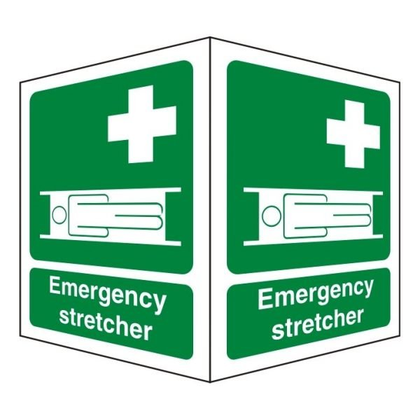 Emergency Stretcher Double Sided Sign