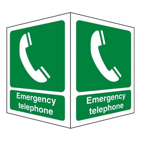 Emergency Telephone Double Sided Sign