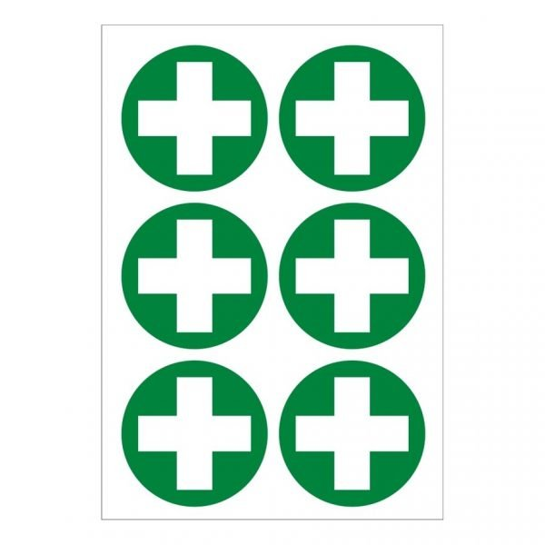 First Aid Sticker X 6