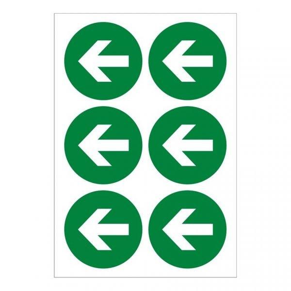 Arrow Left X 6 Sign