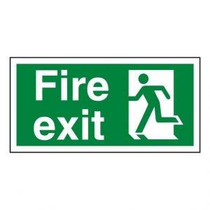 Fire Exit Running Man Left Sign