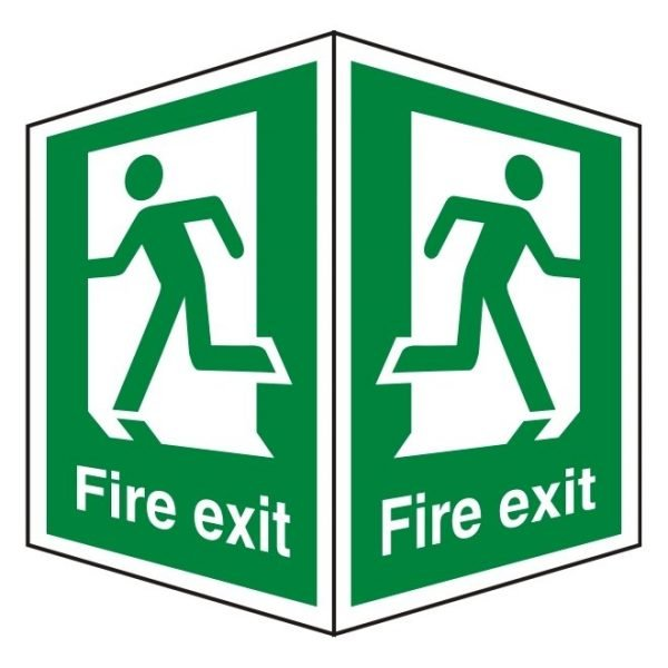 Fire Exit Double Sided Sign