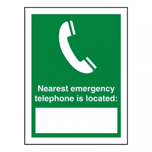 Nearest Emergency Phone Sign