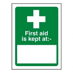 First Aid Kept At Sign