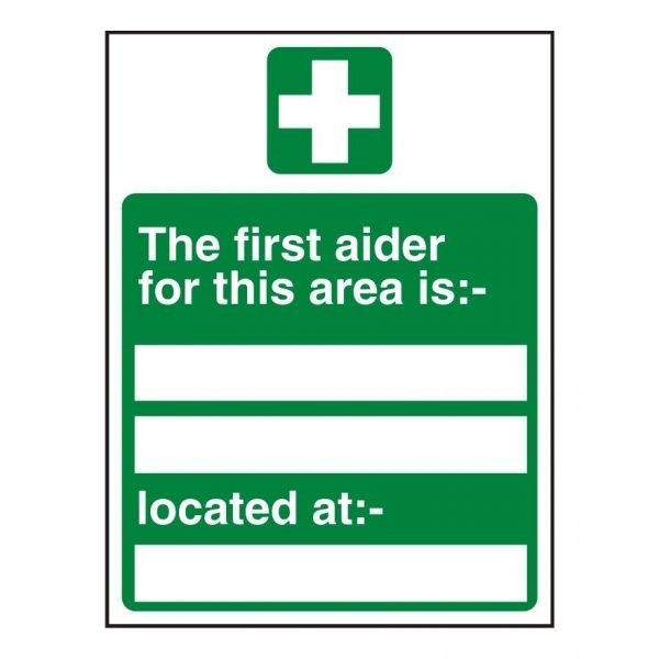 Area First Aider Sign