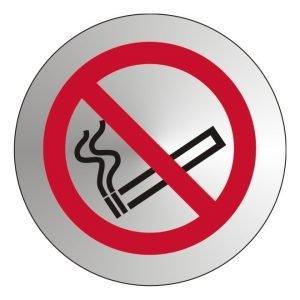 No Smoking Stainless Steel Office Door Sign