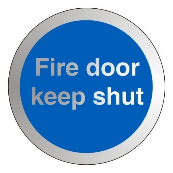 Fire Door Keep Shut Stainless Steel Office Door Sign