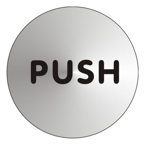 Push Stainless Steel Sign