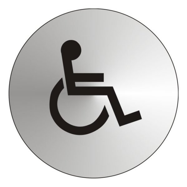 Disabled Stainless Steel Sign