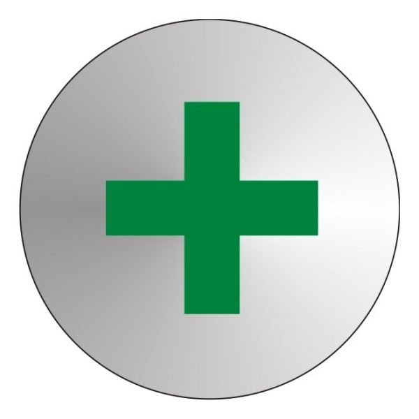 First Aid Stainless Steel Office Door Sign