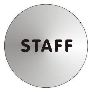 Staff Stainless Steel Office Door Sign