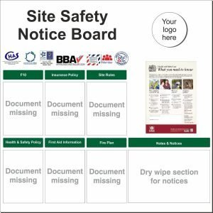 Site Safety Notice Board – Economy