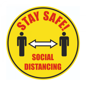 Social Distance Floor Stickers (Pack of 2)