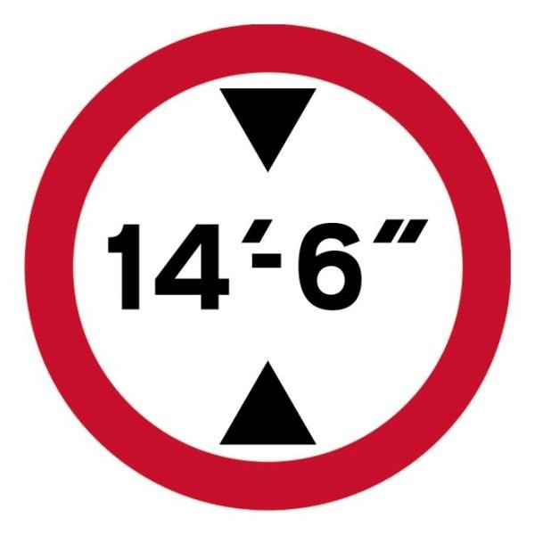 14Ft 6In Height Restriction Sign