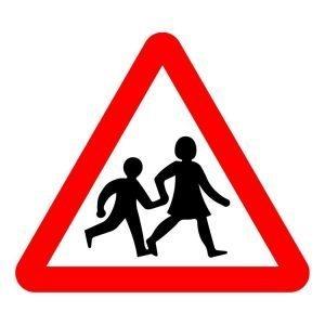 Beware Children Sign