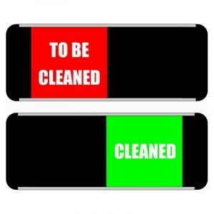 Cleaned To Be Cleaned Mini Sliding Door Sign