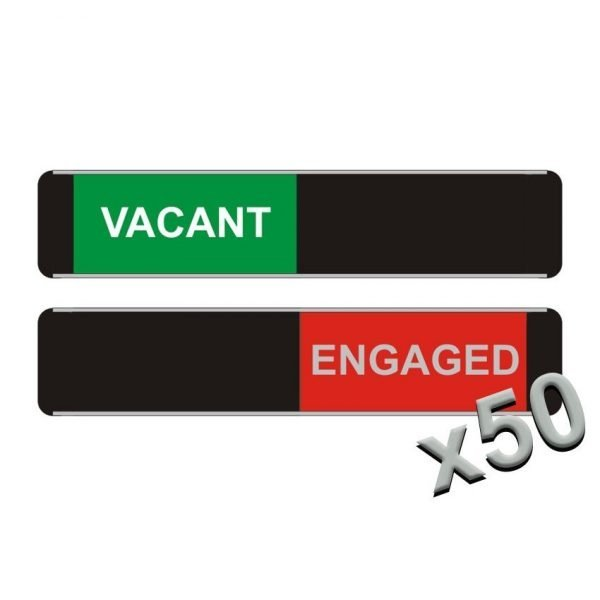 Vacant Engaged Sliding Door Signs x50