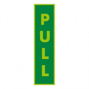 Photoluminescent Pull Vertical Text Sign