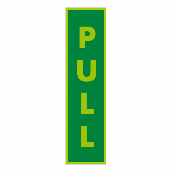 Vertical Photoluminescent Pull Sign