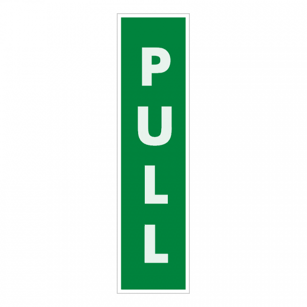 Vertical Pull Fire Exit Door Sign