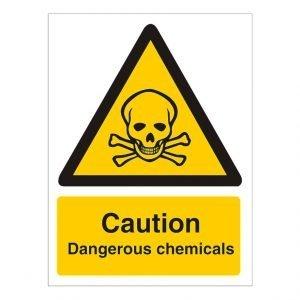 Caution Dangerous Chemicals Sign