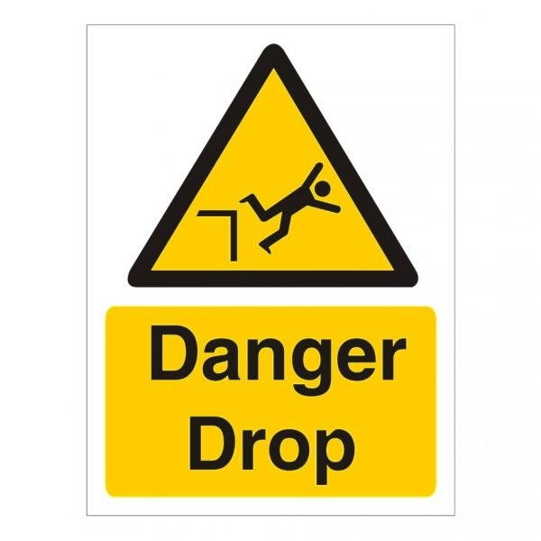 Danger Drop Sign
