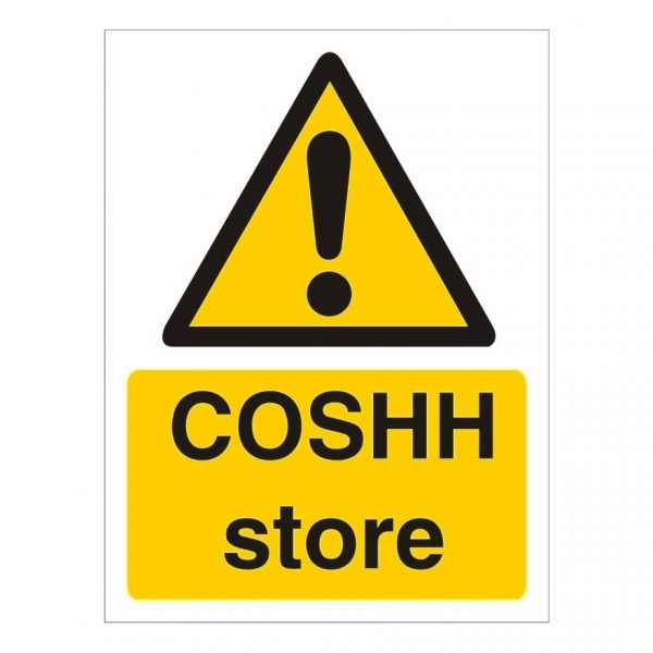 Coshh Store Sign
