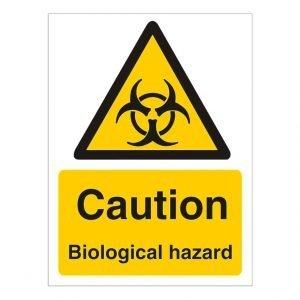 Caution Bioligical Hazard Sign