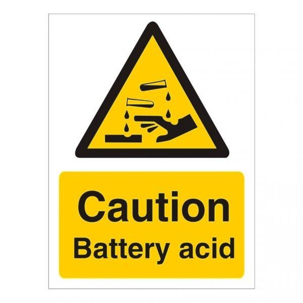 Caution Battery Acid Sign