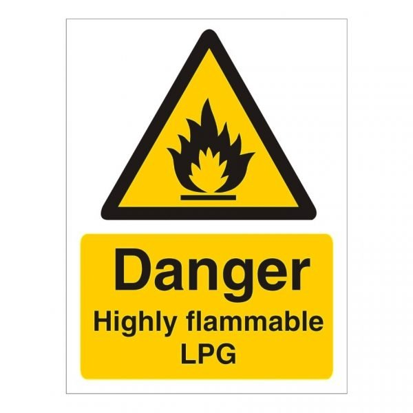 Danger Highly Flammable Lpg Sign