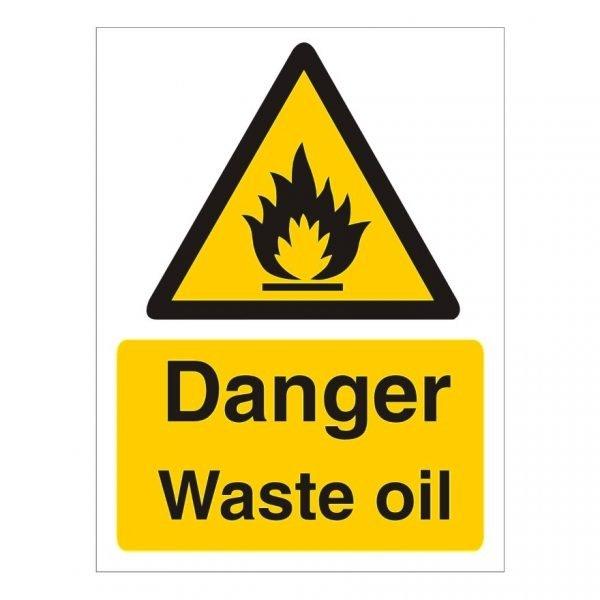 Danger Waste Oil Sign