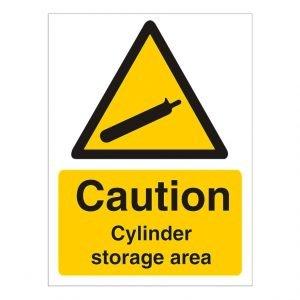 Caution Cylinder Storage Area Sign