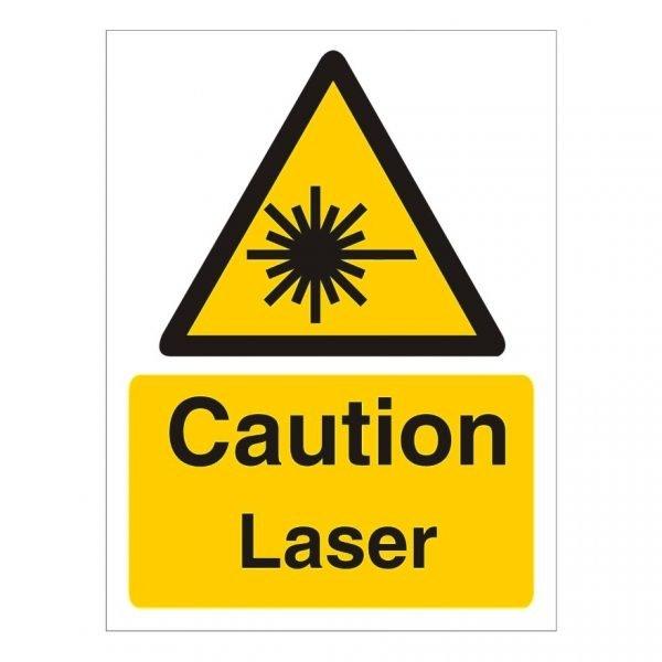 Caution Laser Sign