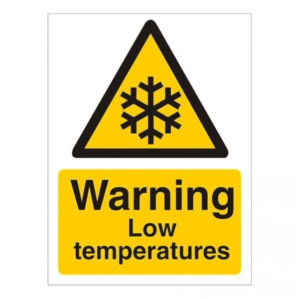 Warning Low Temperatures Sign
