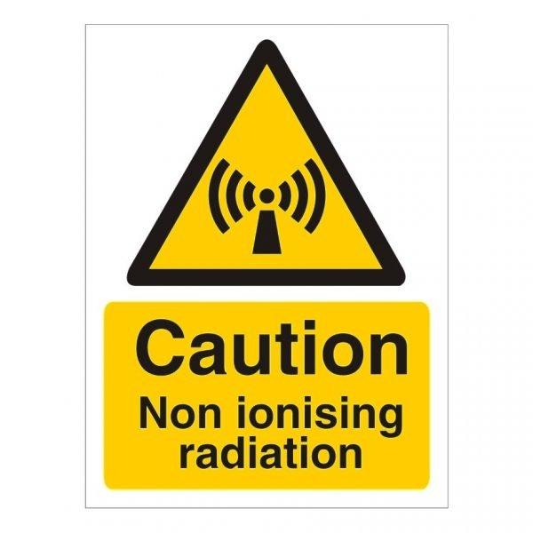 Caution Non Ionised Radiation Sign