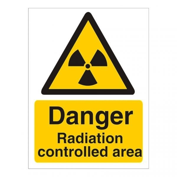 Danger Radiation Controlled Area Sign