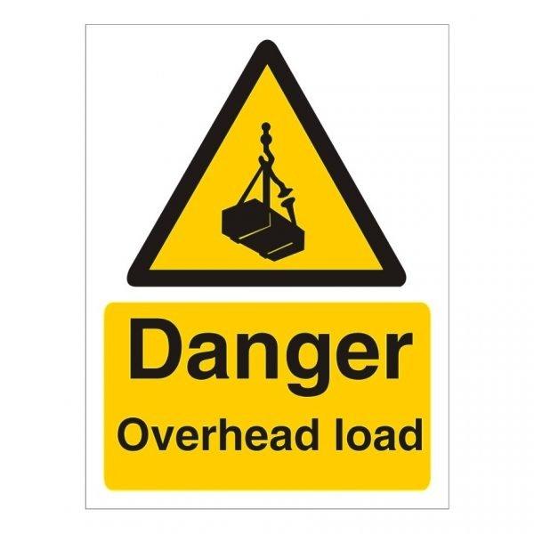 Danger Overhead Load Sign