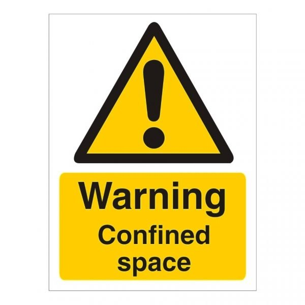 Warning Confined Space Sign