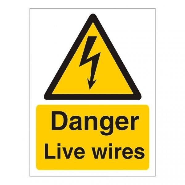 Danger Live Wires Sign