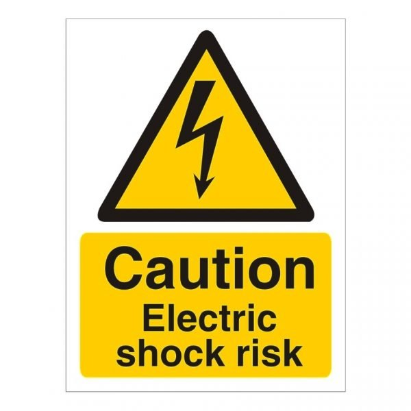 Caution Electric Shock Risk Sign