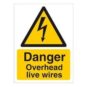 Danger Overhead Live Wires Sign