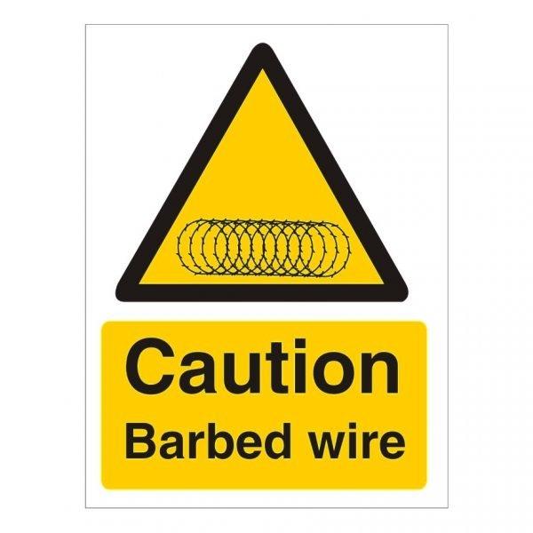 Caution Razor Wire Sign