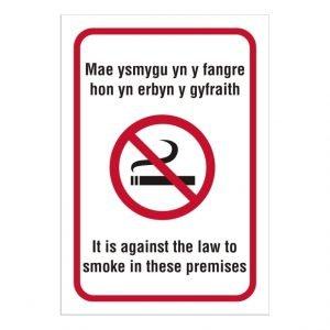 Welsh No Smoking Sign
