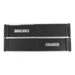 Available Engaged Sliding Door Sign